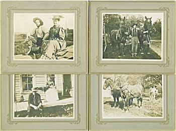 CABINET PHOTO – 4 GREAT PHOTOS of FARM FAMILY 1800's. (Image1)