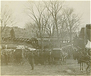 Cabinet Photo - Train Wreck 1880's - Hyde Park, Mass.
