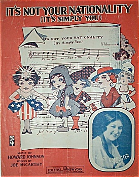 Sheet Music - IT'S NOT YOUR NATIONALITY. (Image1)