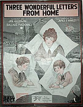 Sheet Music - THREE WONDERFUL LETTERS - WWI. (Image1)