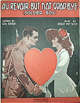 Sheet Music-AU REVOIR BUT NOT GOOD-BYE - WWI. (Image1)