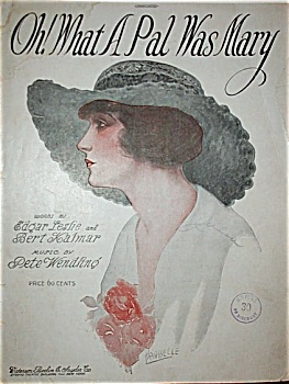 Sheet Music - Oh What A Pal Was Mary.