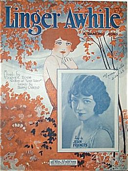 Sheet Music - LINGER AWHILE. (Image1)