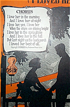 Sheet Music - Last Night On The Back Porch.