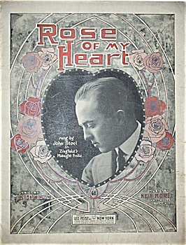 Sheet Music -  ROSE OF MY HEART.  C.1920. (Image1)
