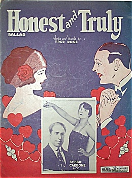 Sheet Music - HONEST and TRULY.  C.1924. (Image1)
