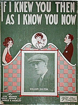 Sheet Music - If I Knew You Then.