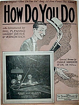 Sheet Music - HOW DO YOU DO – C.1924. (Image1)