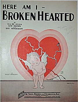Sheet Music – HERE I AM BROKEN HEARTED. (Image1)