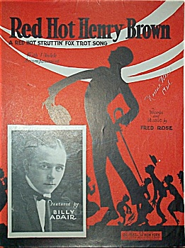 Sheet Music � RED HOT HENRY BROWN. (Image1)