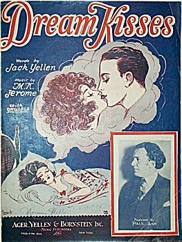 Sheet Music – DREAM KISSES.  C.1927. (Image1)