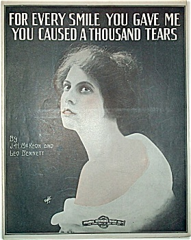 Sheet Music – YOU CAUSED A THOUSAND TEARS. (Image1)