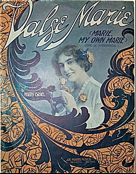 Sheet Music – VALSE MARIE.  C.1915. (Image1)