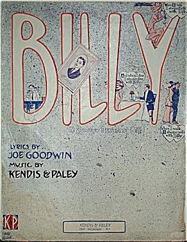 Sheet Music – BILLY.  C.1911. (Image1)
