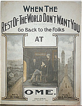 Sheet Music–REST OF THE WORLD DON'T WANT YOU. (Image1)