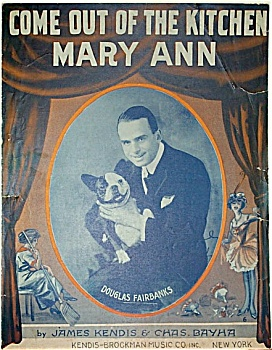 Sheet Music – OUT OF THE KITCHEN MARY ANN. (Image1)