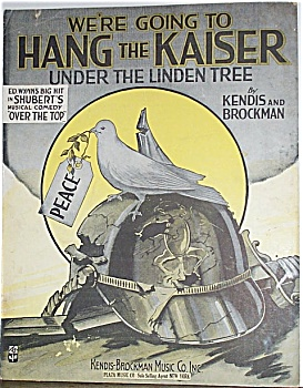 Sheet Music – WWI – HANG THE KAISER. (Image1)