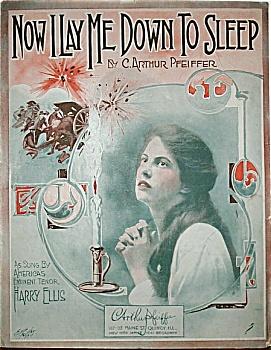 Sheet Music – NOW I LAY ME DOWN TO SLEEP. (Image1)