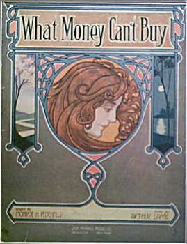 Sheet Music - What Money Can't Buy.