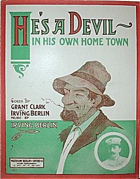 Sheet Music – HE'S A DEVIL. (IRVING BERLIN). (Image1)
