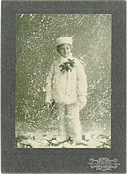 CABINET PHOTO � BOY IN STUDIO SNOWSTORM. (Image1)