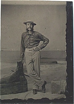 "Tintype – Dapper Dan at the ""beach"". (Image1)"