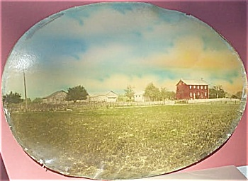Antique Photograph � Lg oval photo of Farm � hand-tint. (Image1)
