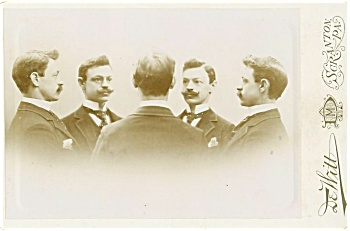 CABINET PHOTO – SPECIAL EFFECT – SAME MAN IN CIRCLE. (Image1)