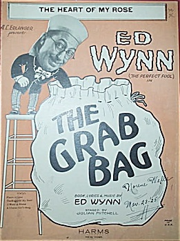 Sheet Music - Ed Wynn - The Grab Bag. C.1924.