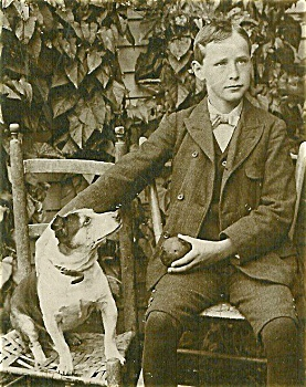 Cabinet Photo � A boy. A dog. A ball.  Delightful image (Image1)