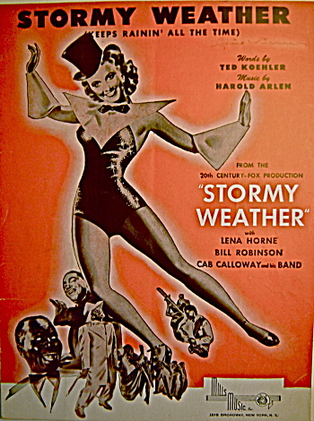 "Vintage Sheet Music ""Stormy Weather"" Horne & Calloway (Image1)"