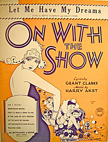 Vintage Sheet Music 1929 ON WITH THE SHOW (Image1)