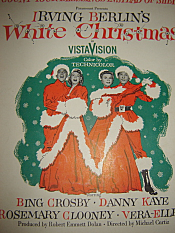 Vintage Sheet Music WHITE CHRISTMAS Bing Crosby (Image1)
