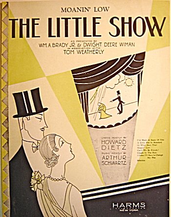 "Vintage Sheet Music ""Moanin' Low… THE LITTLE SHOW"" (Image1)"