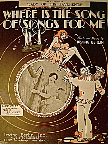 """Vintage Sheet Music """"Where is the Song of Songs for Me"""" (Image1)"""