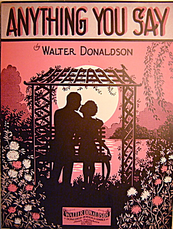 """Anything You Say"" - 1928 Sheet Music (Image1)"