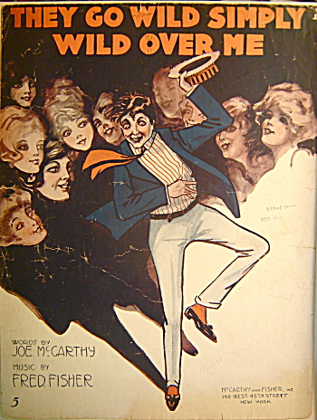 "Vintage Sheet Music ""They go wild simply wild over me""  (Image1)"