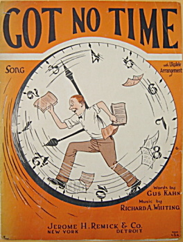 Sheet music: GOT NO TIME - 1925. (Image1)