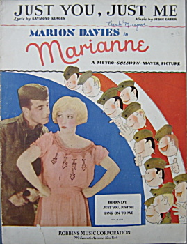"Sheet music: MARION DAVIES IN ""MARIANNE"" - 1929. (Image1)"