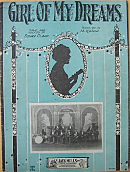 Sheet music: GIRL OF MY DREAMS - 1927. (Image1)