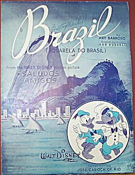 Sheet music: BRAZIL - Disney - SALUDOS AMIGOS. (Image1)