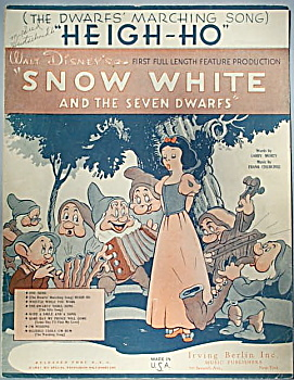 Sheet music: HEIGH-HO (Dwarfs' Marching Song). (Image1)