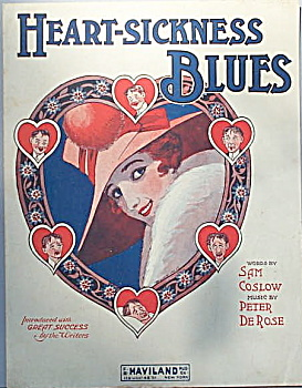 Sheet music: HEART-SICKNESS BLUES. (Image1)