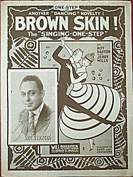 Sheet music: BROWN SKIN – 1916. (Image1)