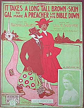 Sheet music: IT TAKES A LONG TALL BROWN-SKIN GAL� (Image1)