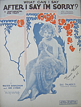 Sheet music: What Can I Say After I Say I'm Sorry? (Image1)