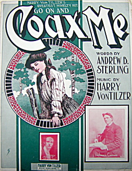 Sheet Music - Go On And Coax Me - 1904.