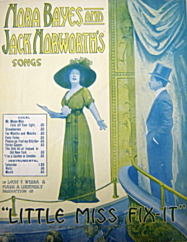 "Sheet Music – songs from ""Little Miss Fix-It"" – 1909. (Image1)"