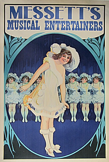 MESSETT'S MUSICAL ENTERTAINERS Vintage Poster C.1910 (Image1)