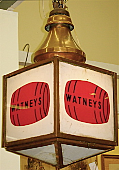 Watney's antique pub sign with light C.1910 (Image1)